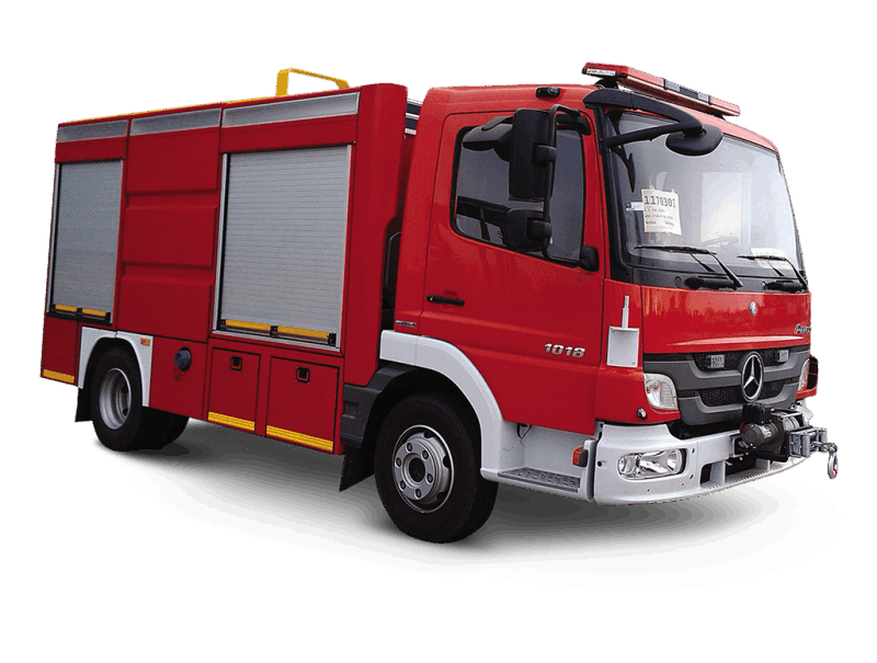 Fire fıghting truck made